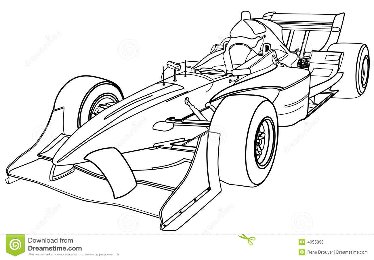 De Auto Van Formule 1 Vector Illustratie Illustratie