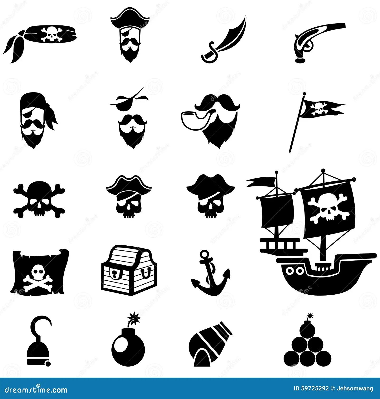 De Pictogrammen Van Piraten Vector Illustratie