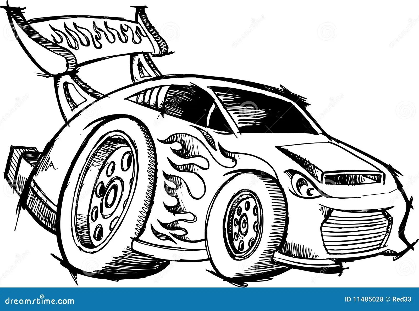 De Raceauto Van De Heet Staaf Van De Krabbel Royalty Vrije