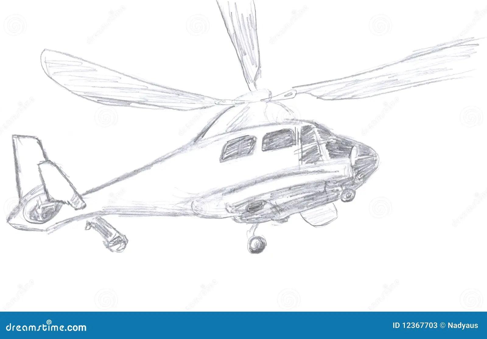 De Schets Van De Helikopter Stock Illustratie