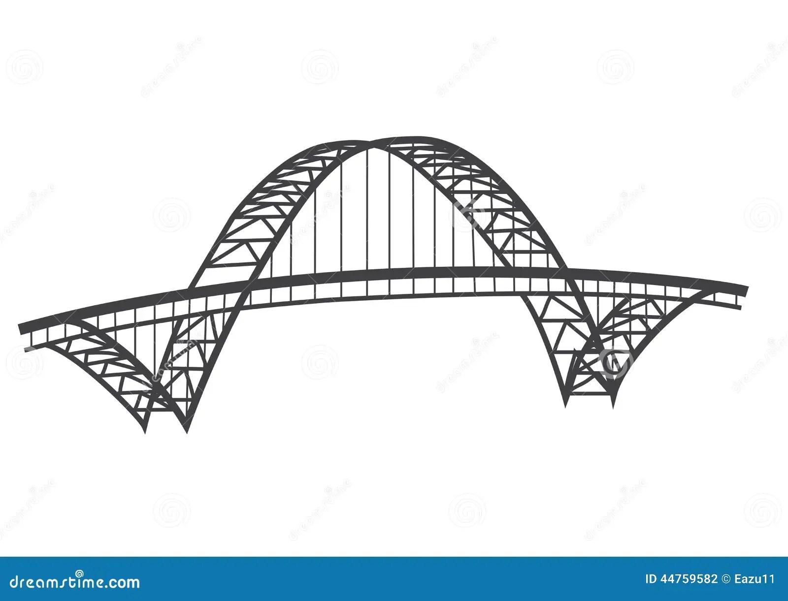 De Tekening Van De Fremontbrug Stock Illustratie