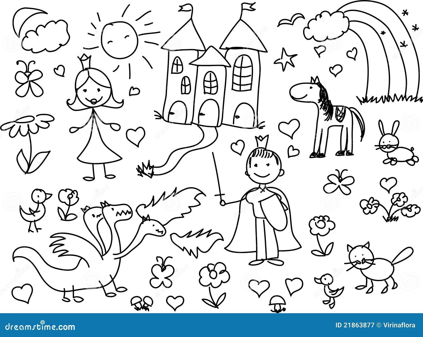 De Tekeningen Van Kinderen Royalty Vrije Stock Fotografie