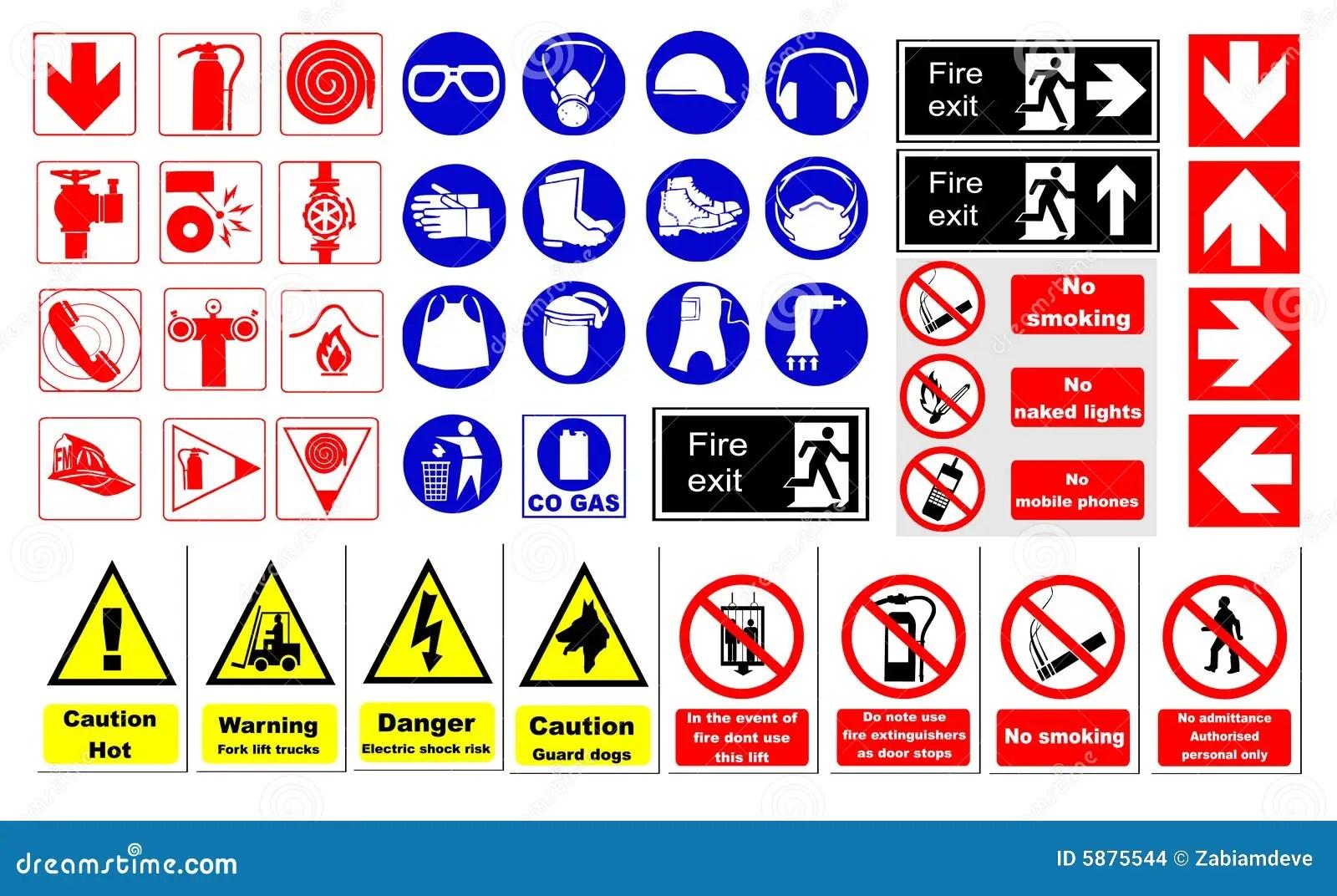 Veiligheidstekens Vector Illustratie Afbeelding Bestaande