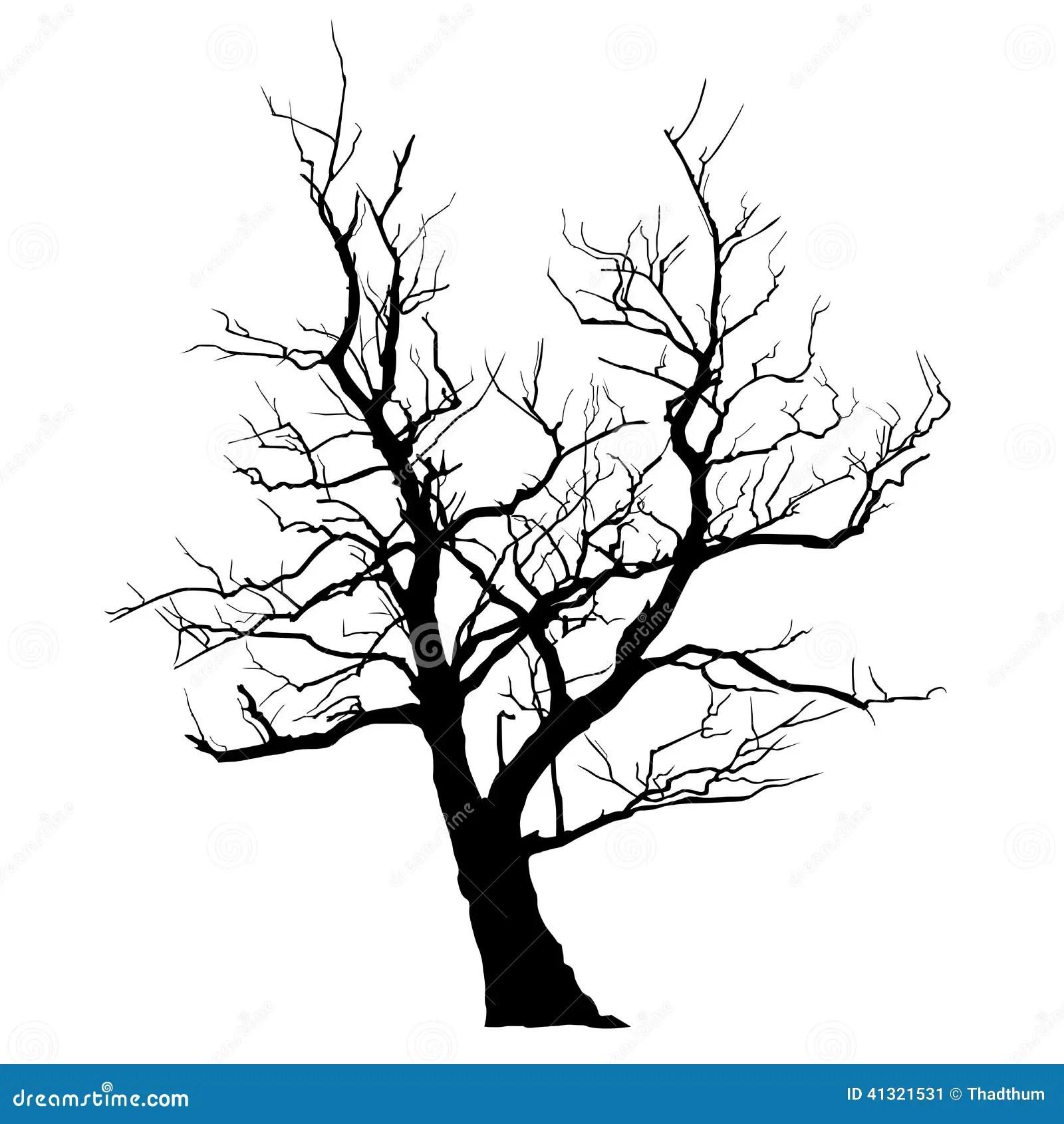 Dead Abstract Tree Stock Vector Illustration Of