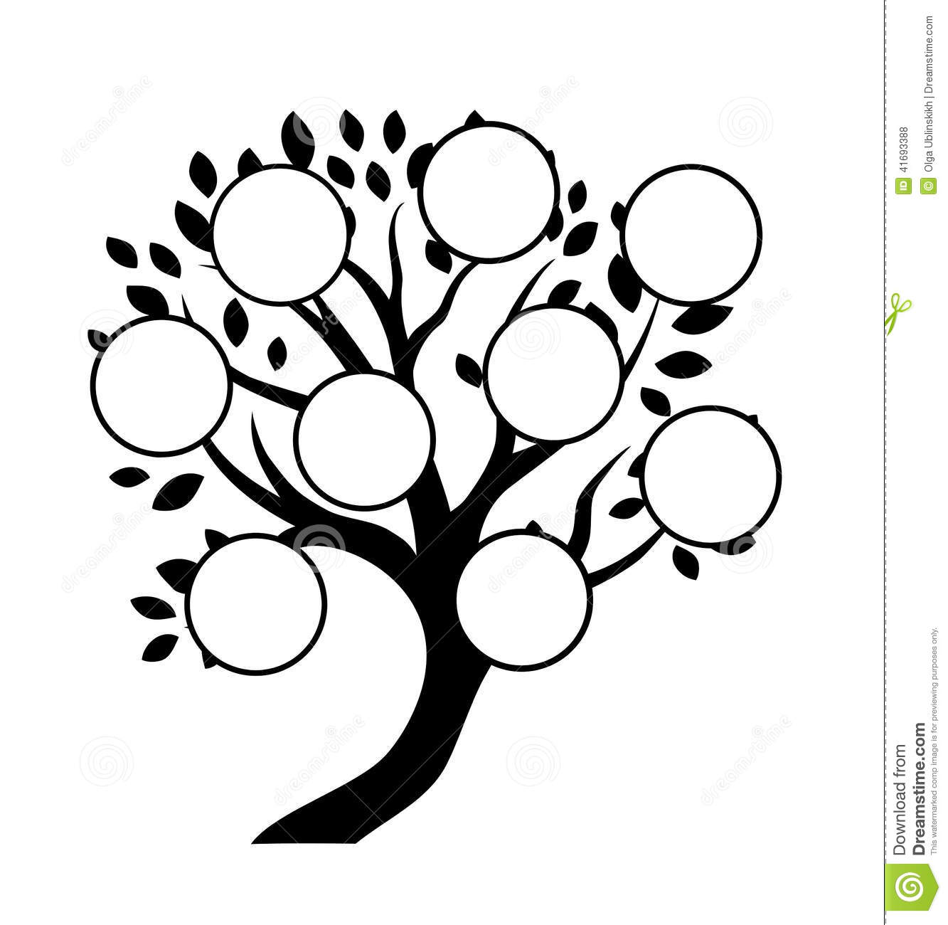 Decorative Family Tree Design Stock Vector