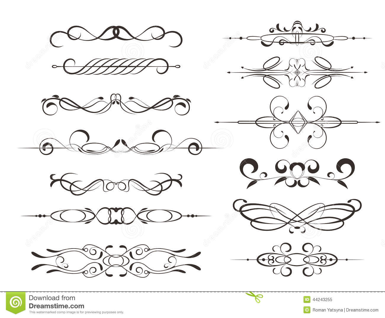 Decorative Frames Calligraphic Design Elements Or