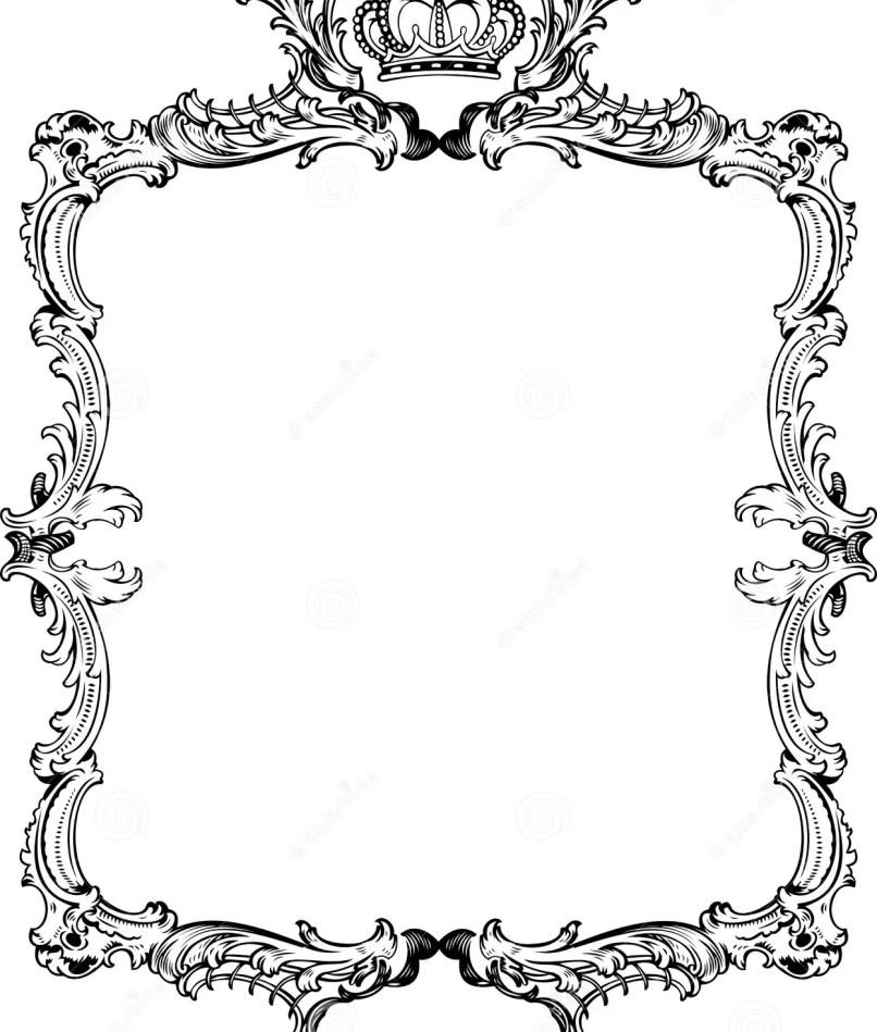 Ornate Frame Vector Free | Frameswalls.org