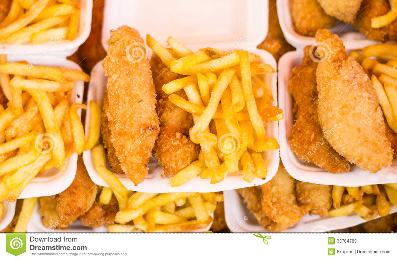 Southern Fried Chicken And Chips