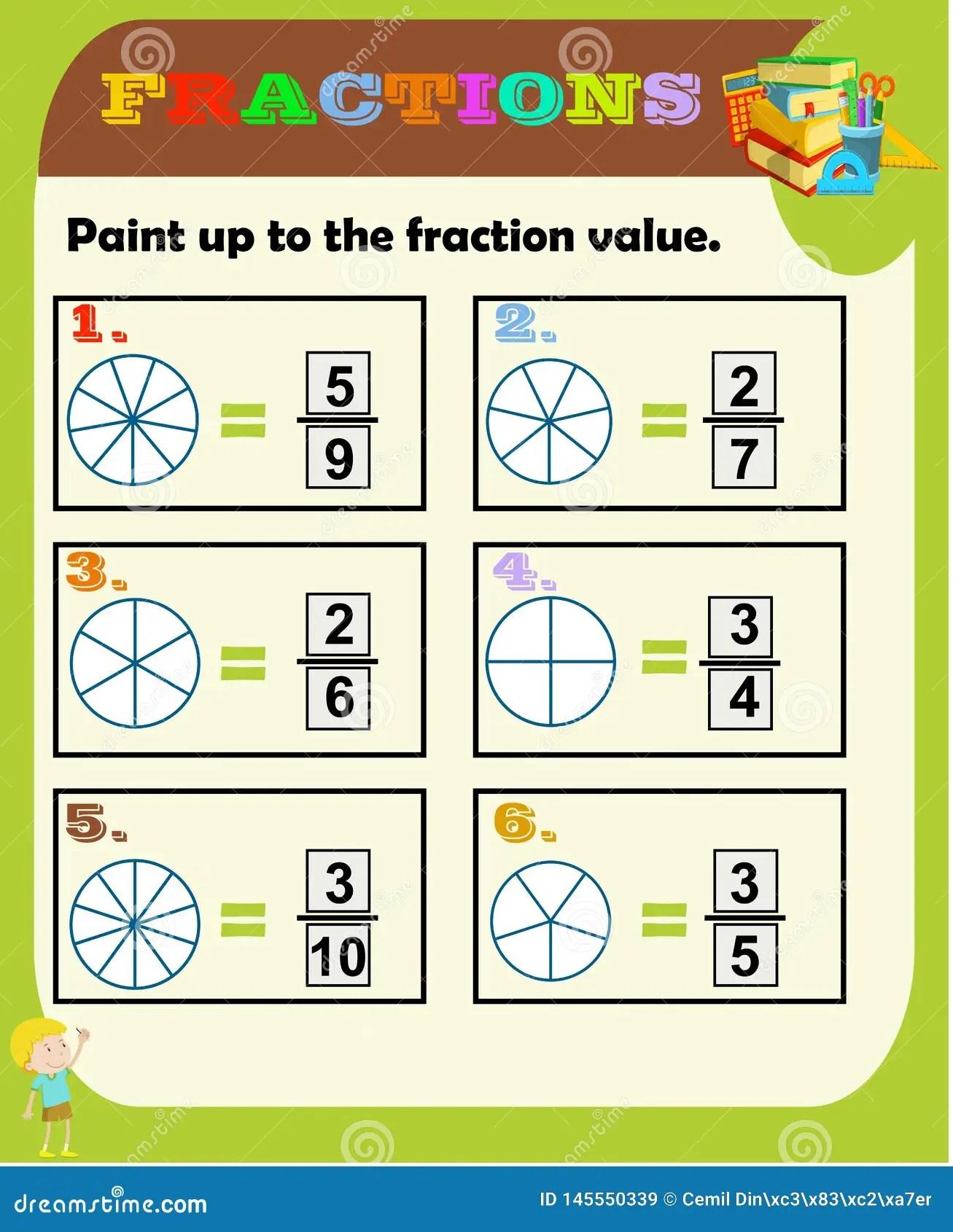 Fractions Worksheet Fraction Review Fraction Practice
