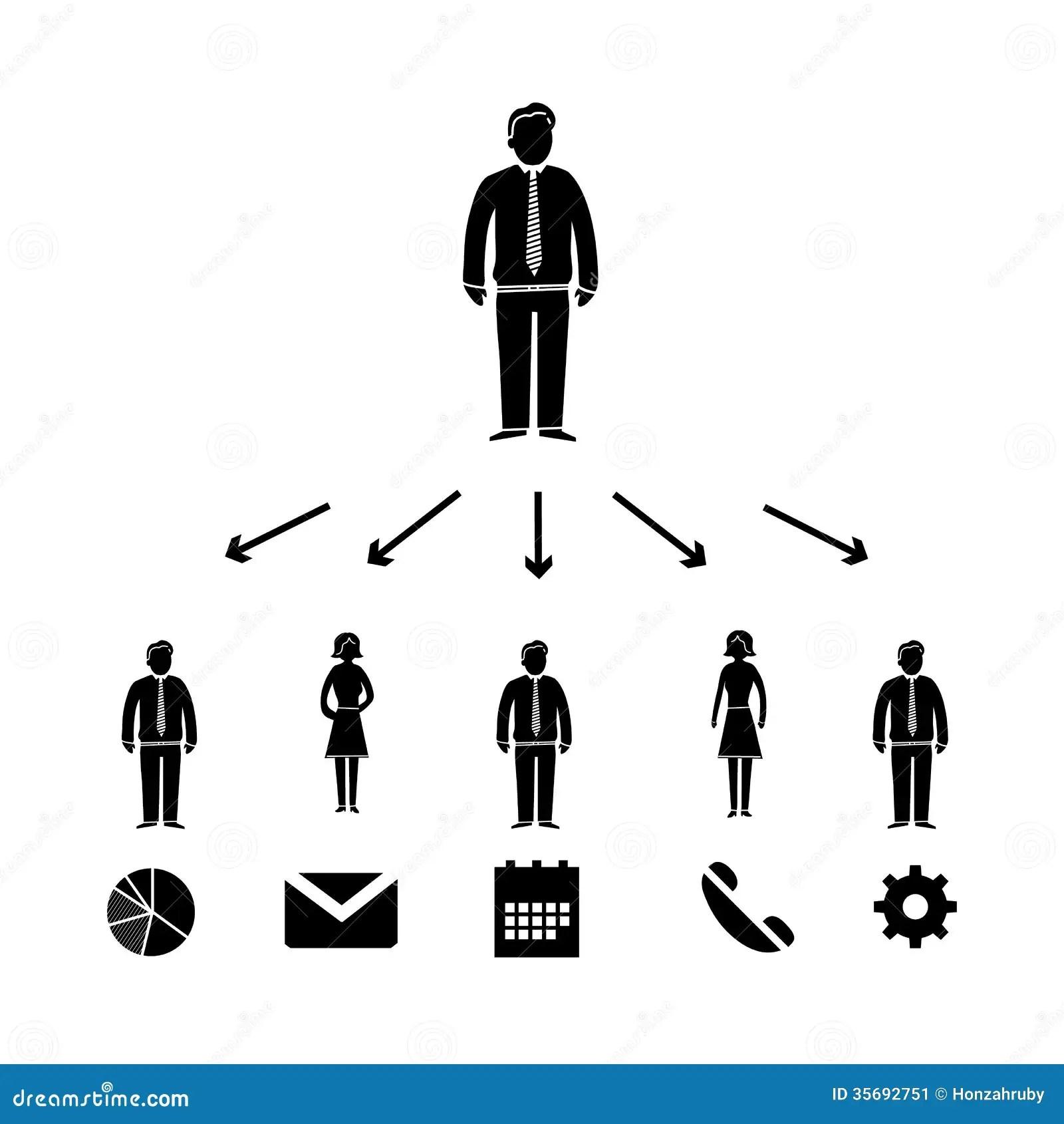 Delegationsikone Stock Abbildung Illustration Von