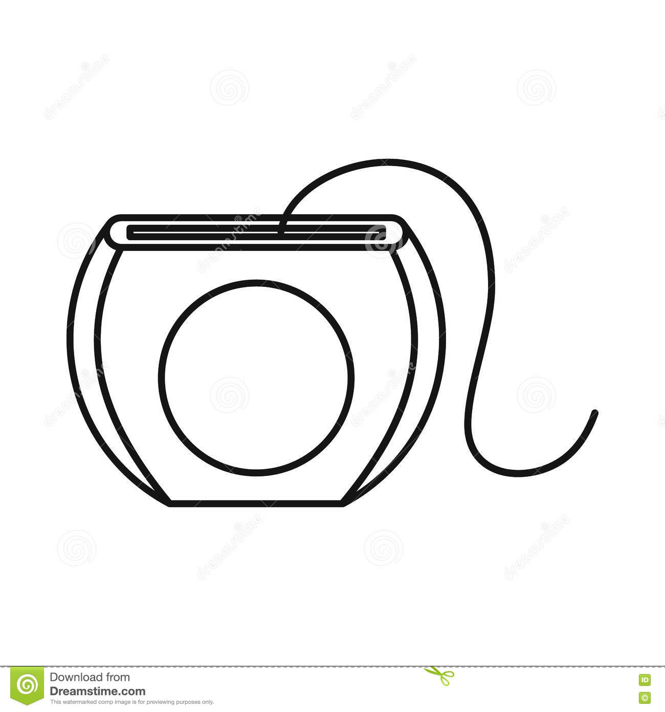 Picture Black And White Dental Floss