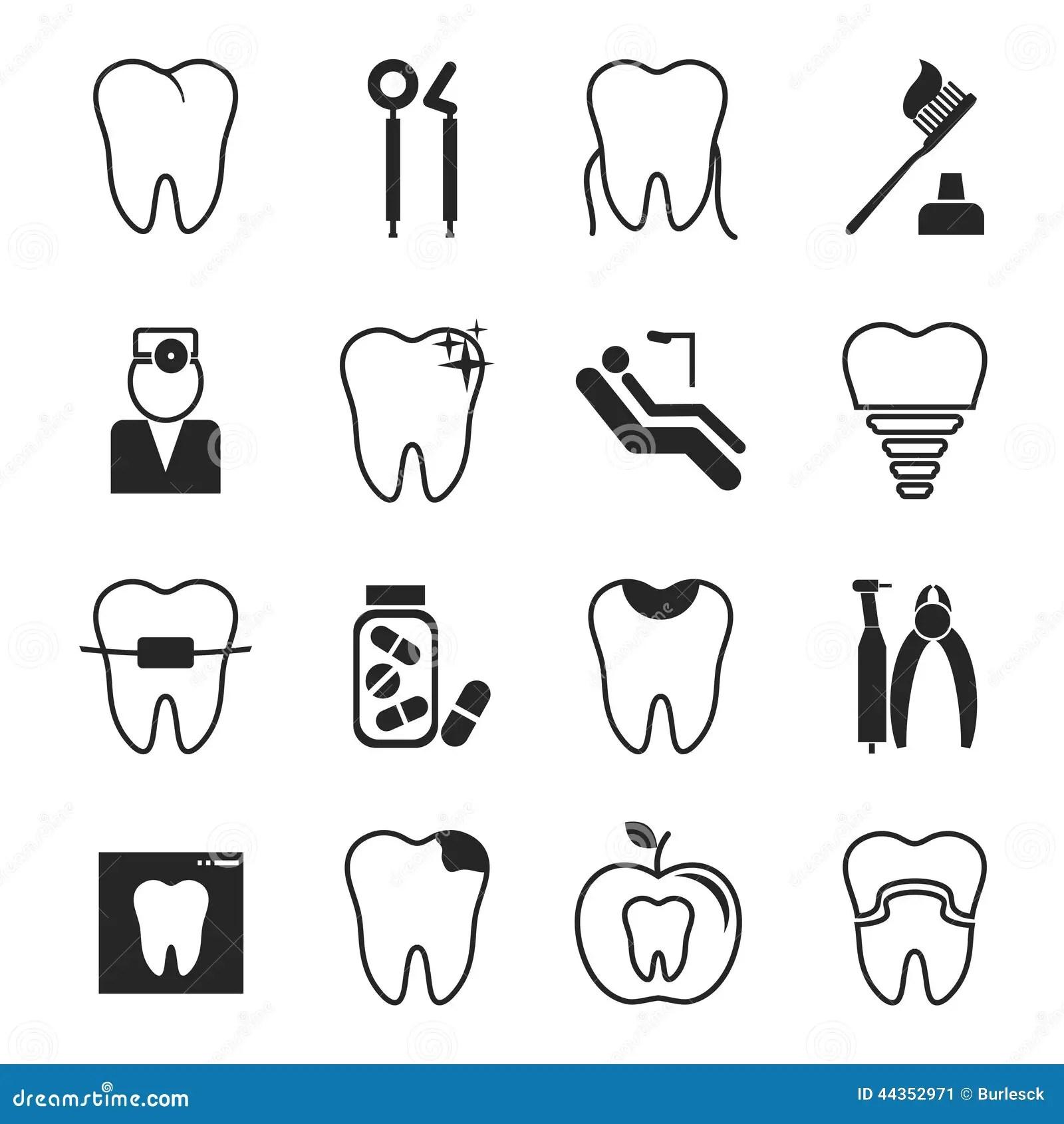 Dental Icons Set Royalty Free Stock Photography