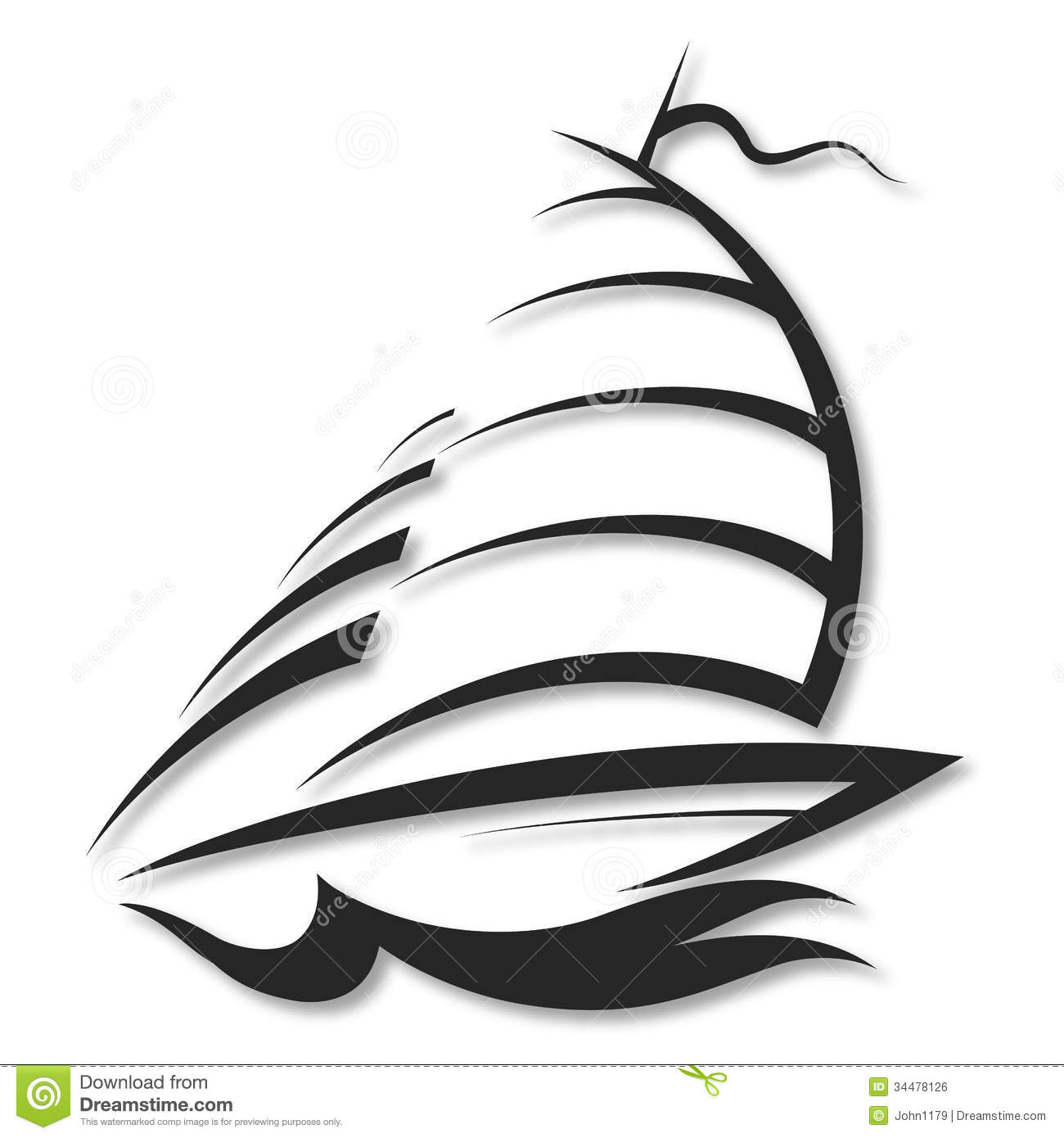 Design Yacht Stock Illustration Illustration Of Sign