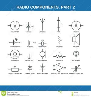 Designation Of Components In The Wiring Diagram Stock Illustration  Illustration of icons
