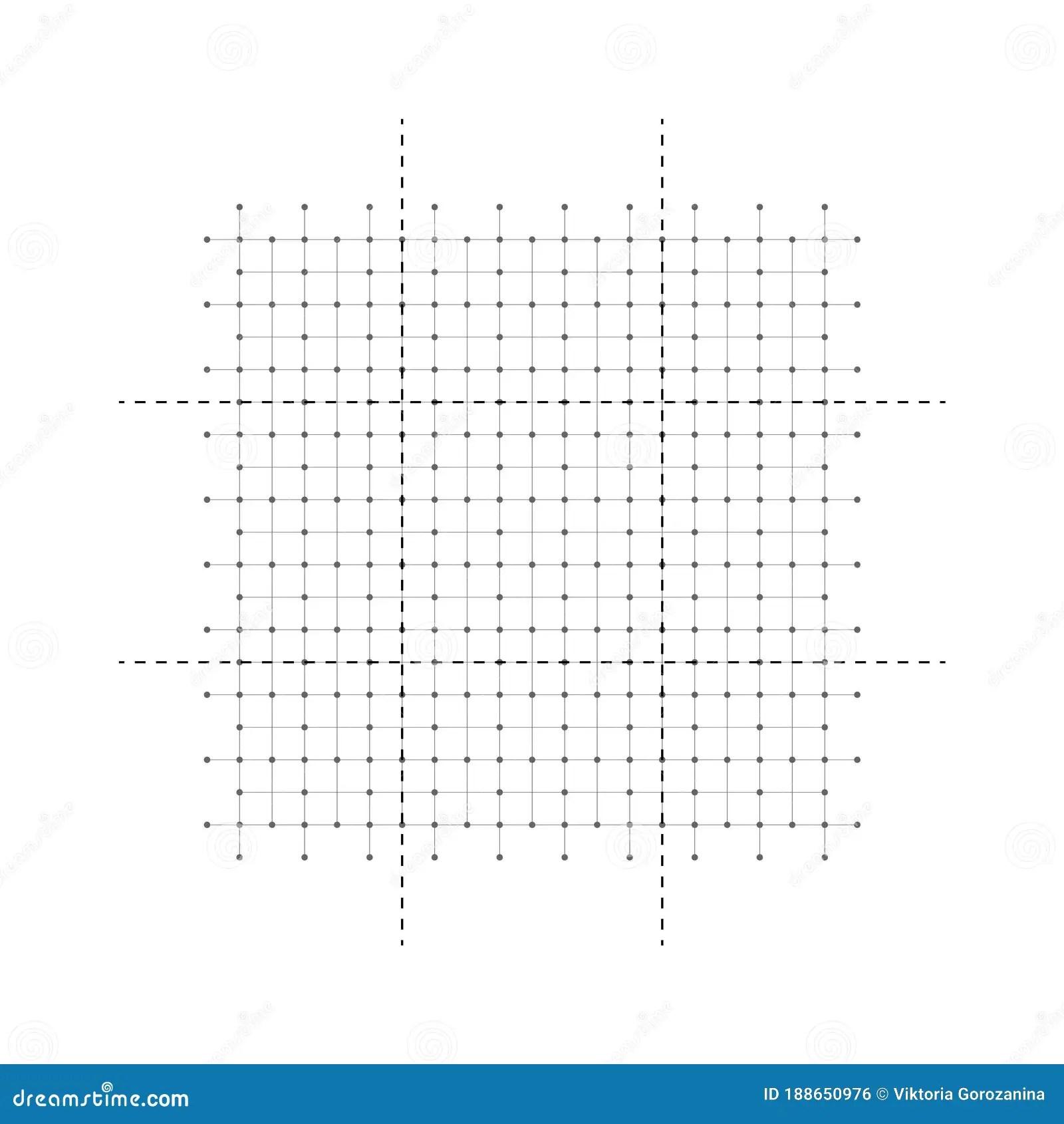 Designer Draft Blank Vector Spatial Grid House Floor