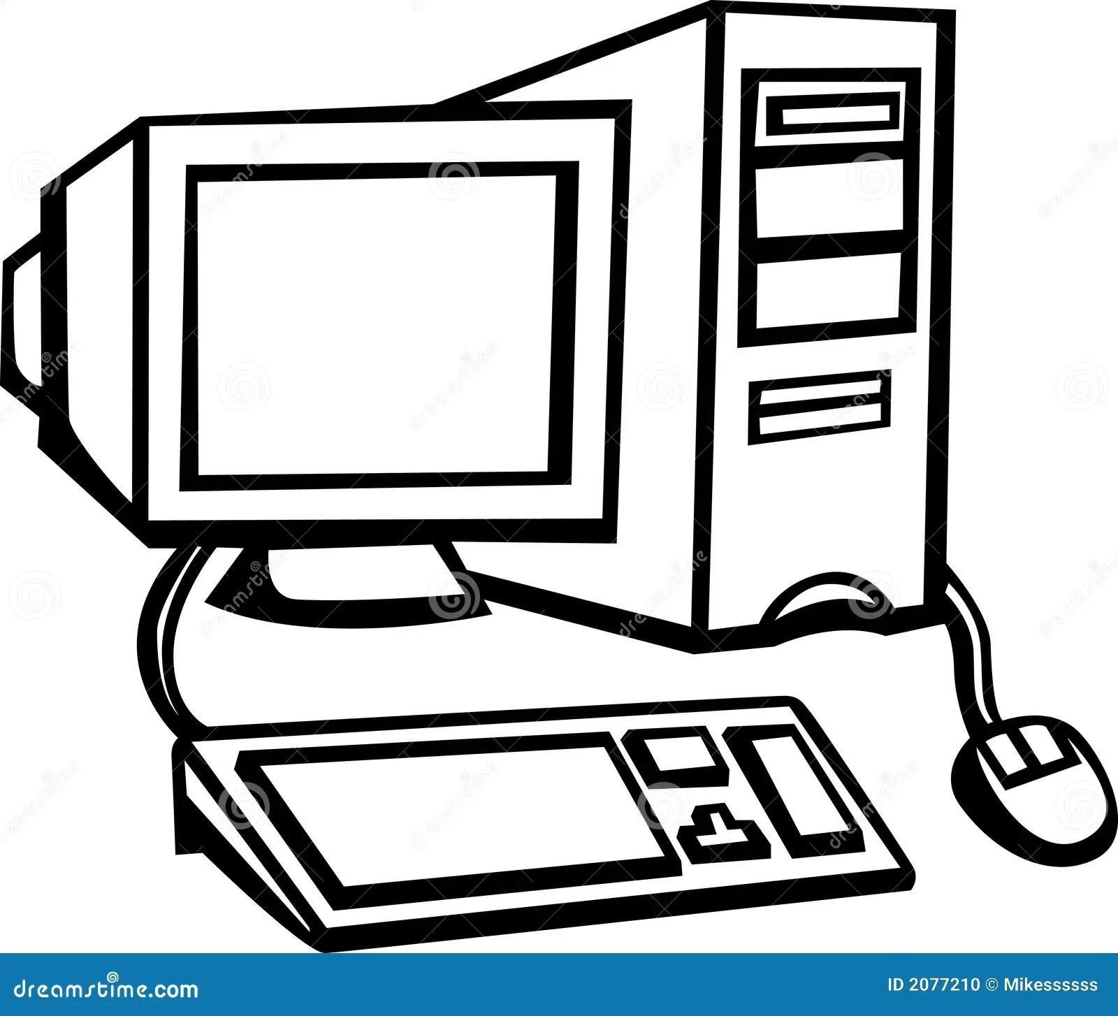 Desktop Computer Vector Illustration Stock Vector