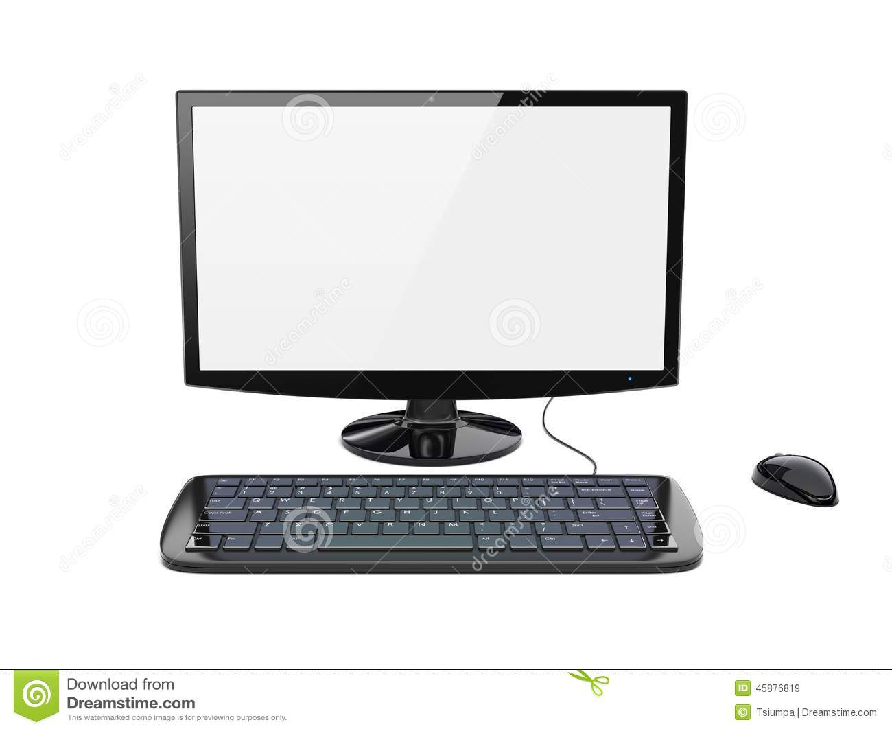 White Large Keyboard For Computer