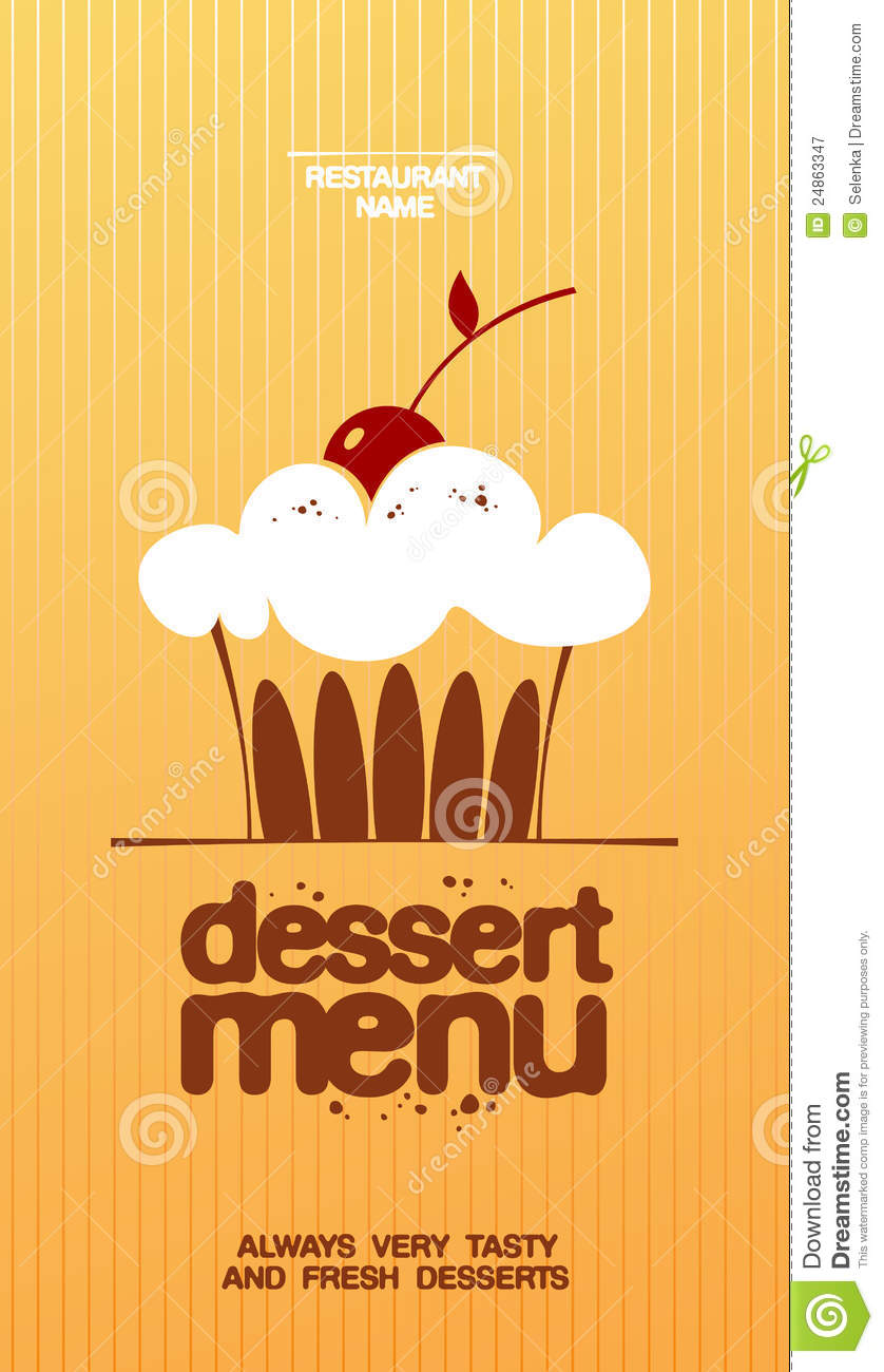Dessert Menu Royalty Free Stock Photography Image 24863347