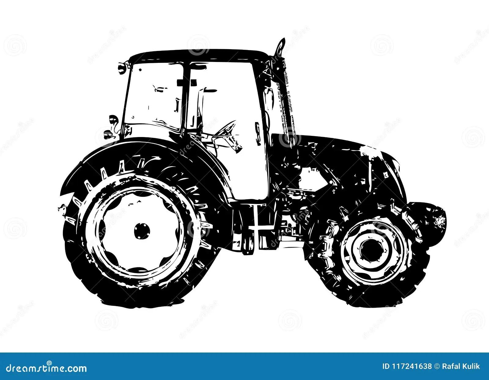 https fr dreamstime com dessin d art couleur illustration tracteur agricole image117241638