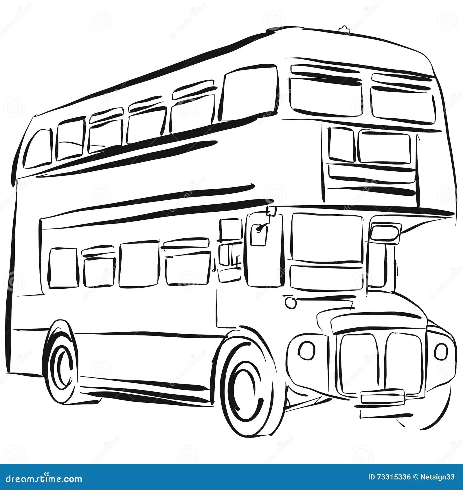 Dessin De Vecteur D Autobus De Londres Illustration De