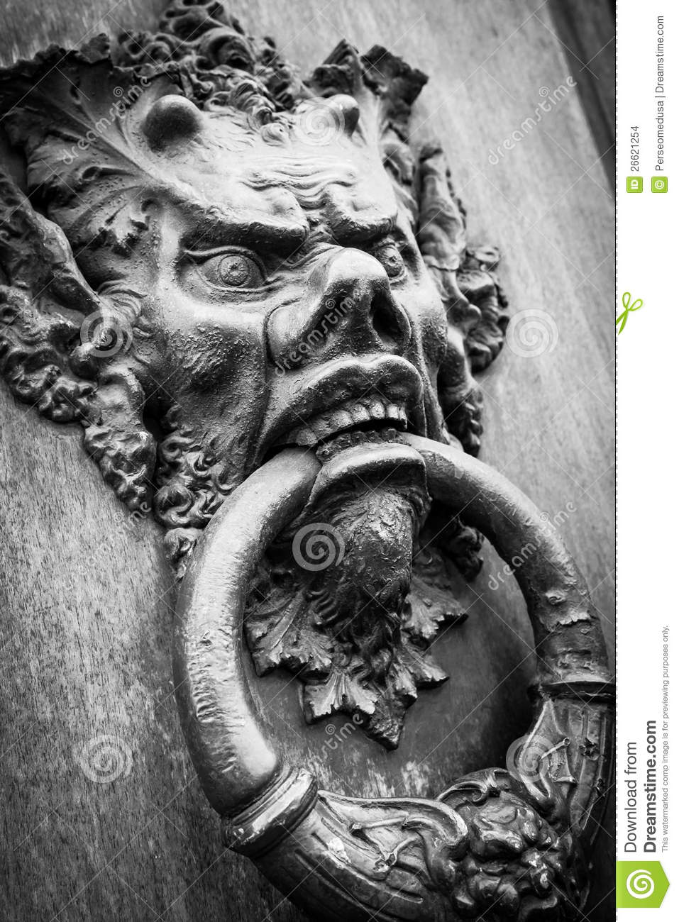 Devil Head Door Knocker Stock Images Image 26621254
