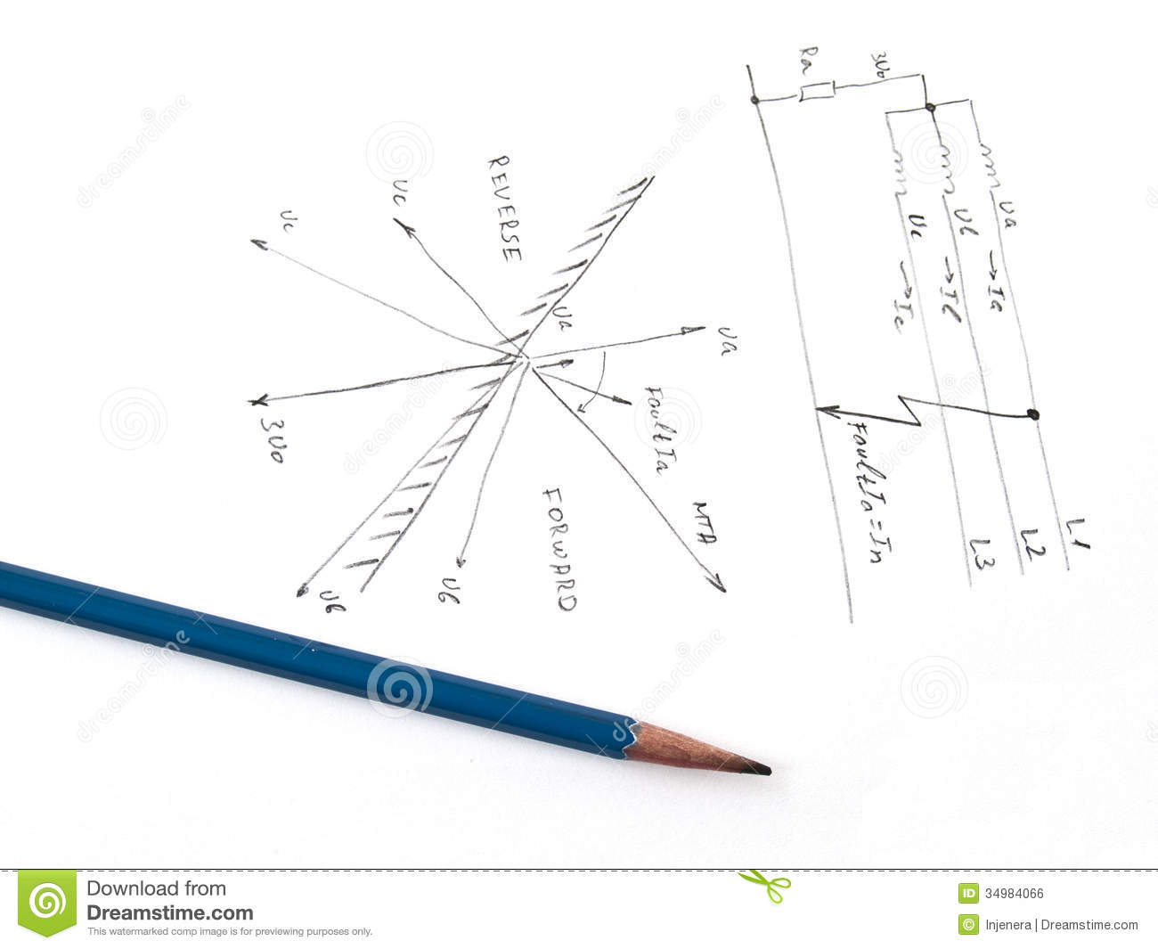 Diagram Withysis Of Network Short Circuit Stock Illustration