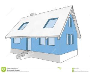 Diagram Icon Building Facade Of House Stock Images  Image