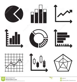 Diagram Icons Set stock vector Illustration of charts