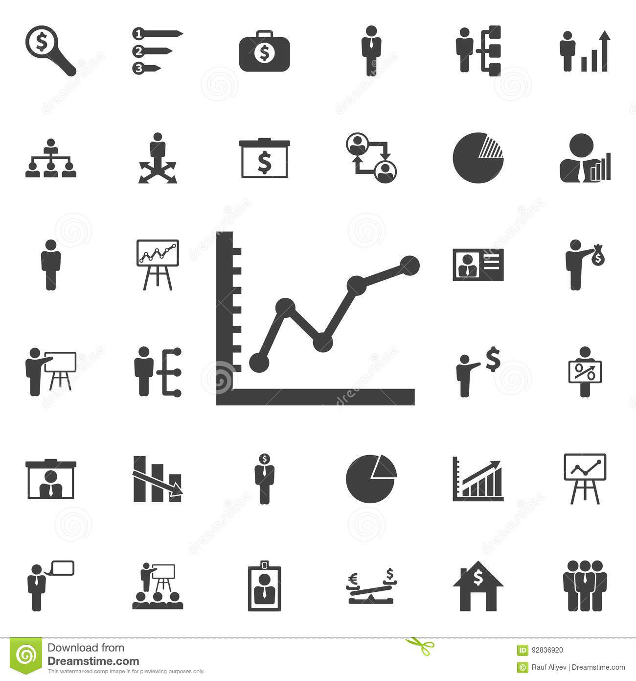 Diagram Up Icon Stock Vector Illustration Of Display