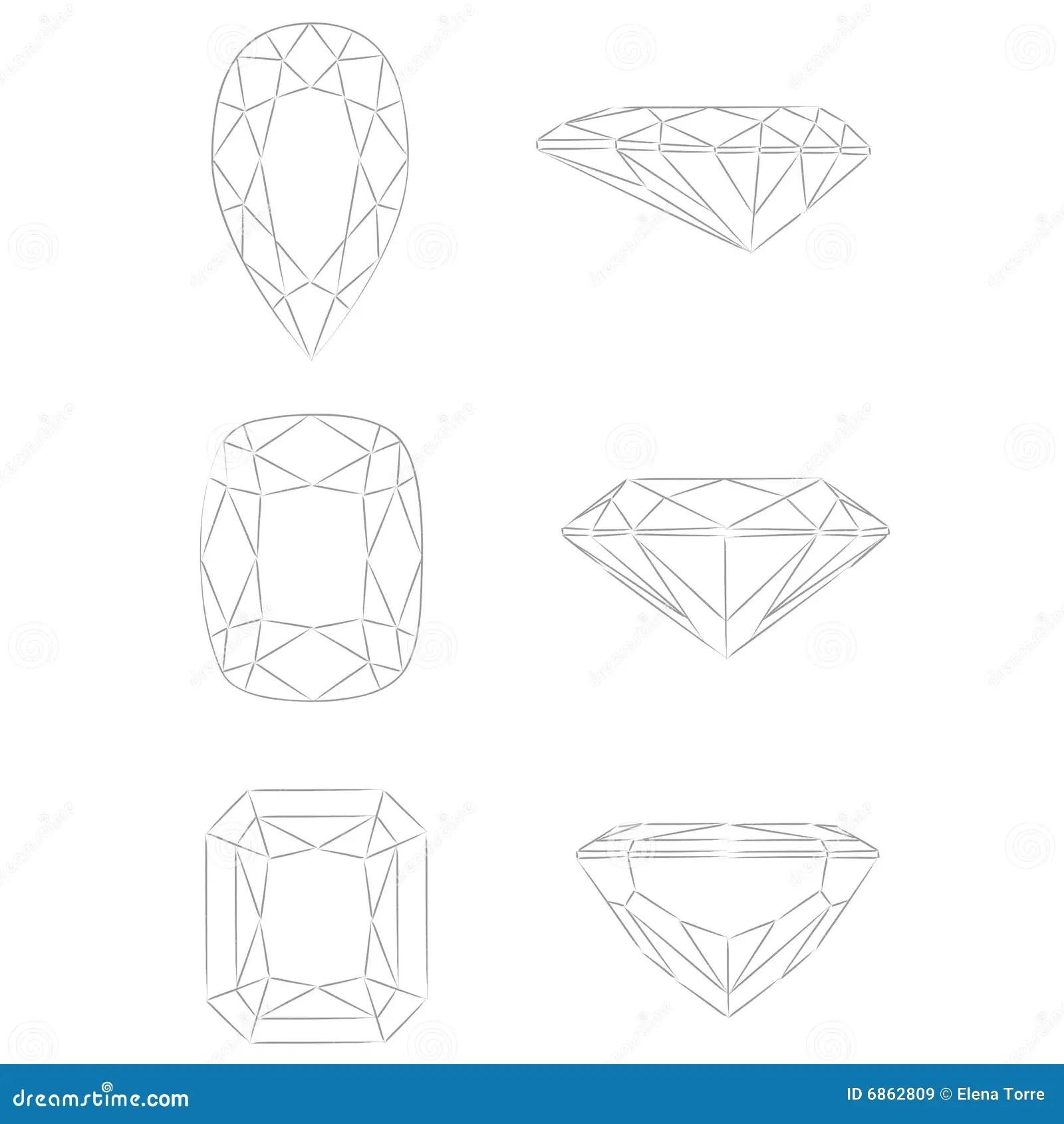 Diamond Shapes Vector Pear