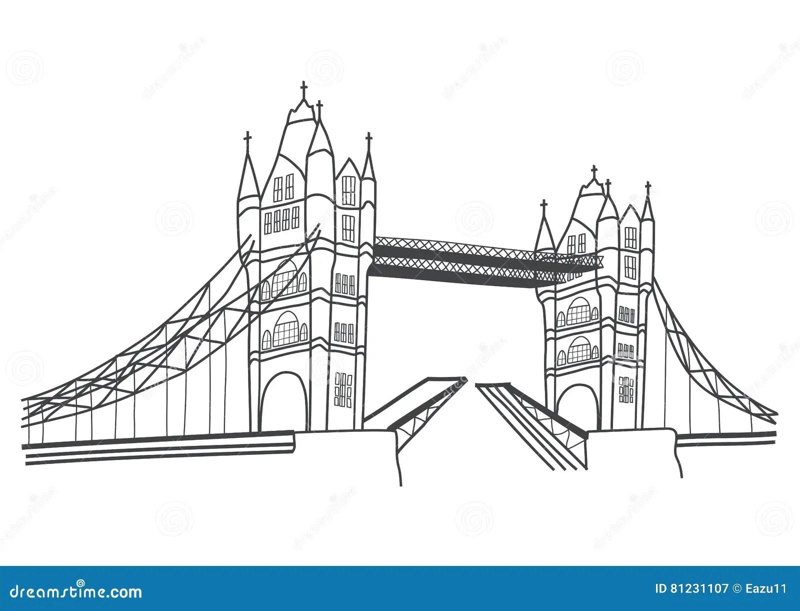 Dibujo Del Puente De La Torre De Londres Ilustracion Del