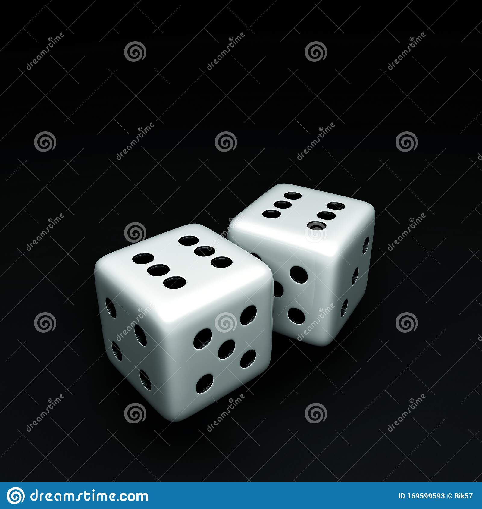 Dice Pair Of Sixes Stock Illustration Illustration Of
