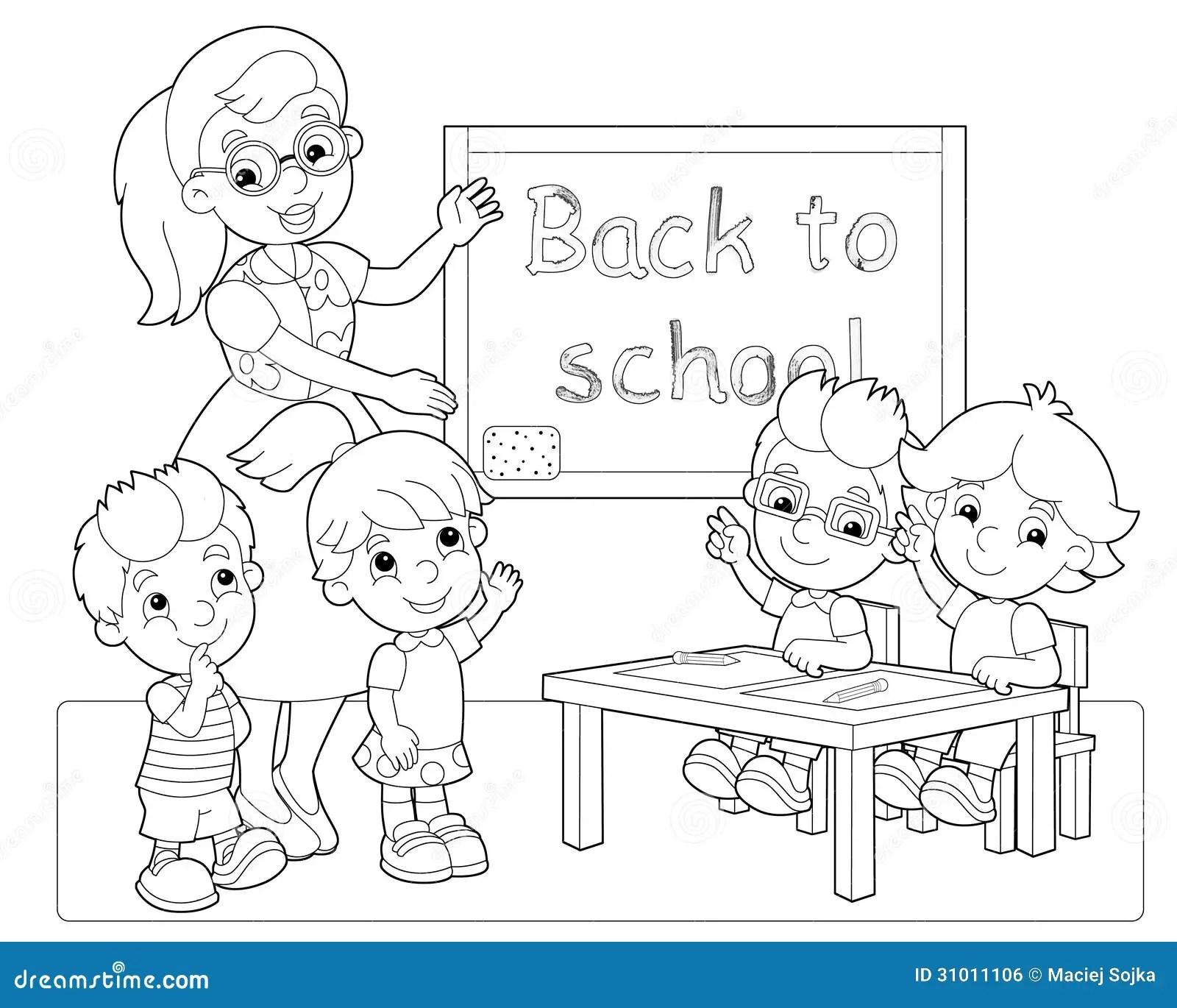 Die Seite Mit Bungen Fr Kinder Malbuch Illustration