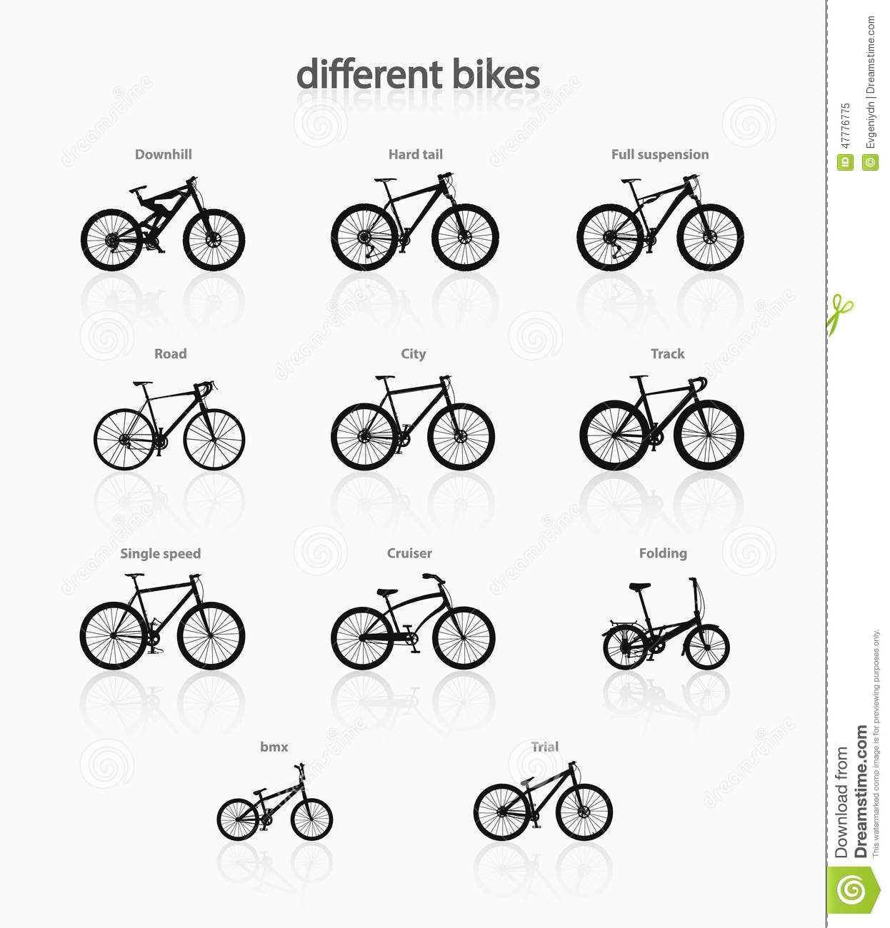 Different Bikes Stock Vector Illustration Of Jump Cycle