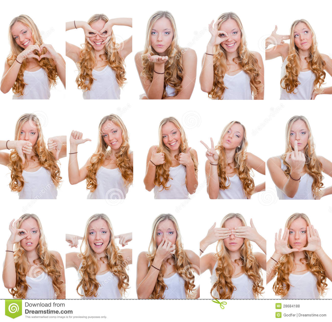 Different Facial Expressions Royalty Free Stock Photos