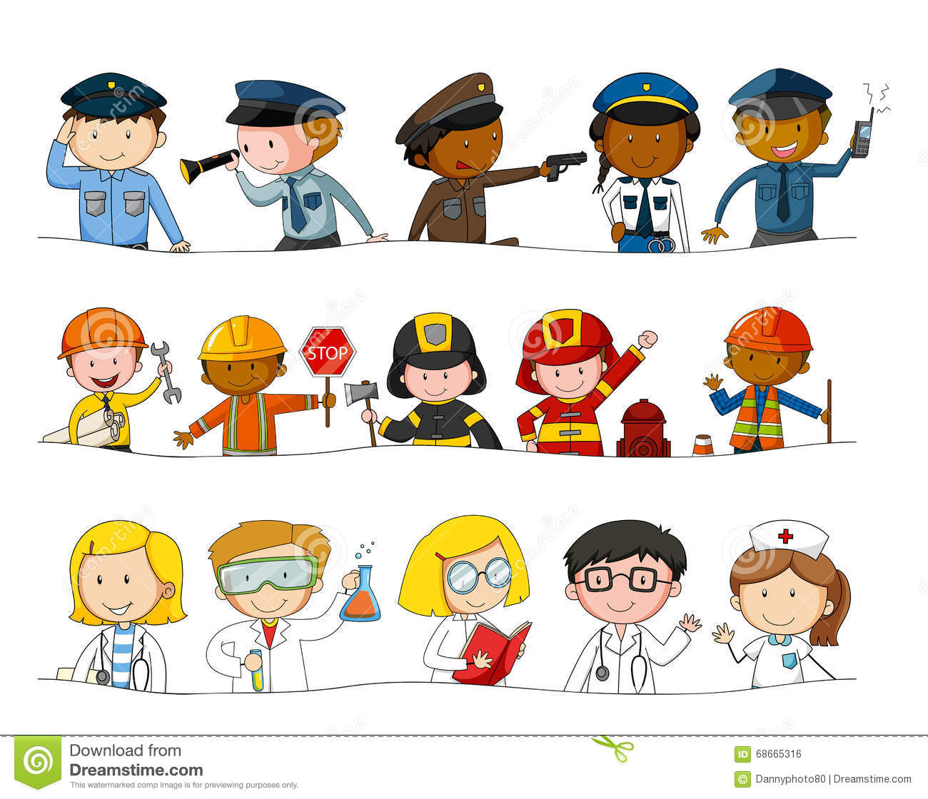 Different Kind Of Occupations Stock Vector