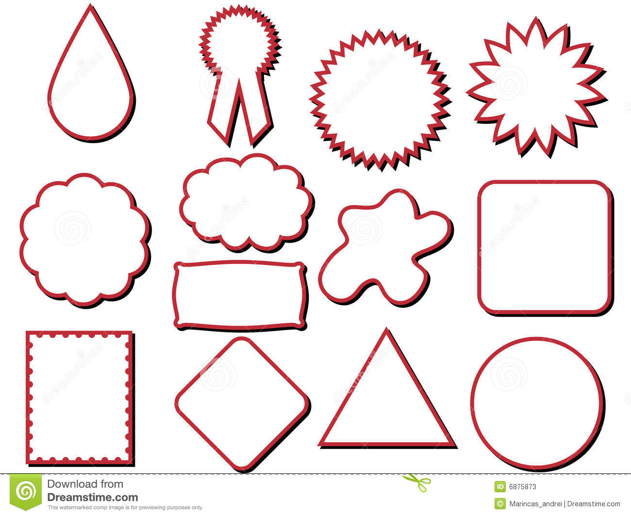 Different Shapes Label Stock Vector Illustration Of