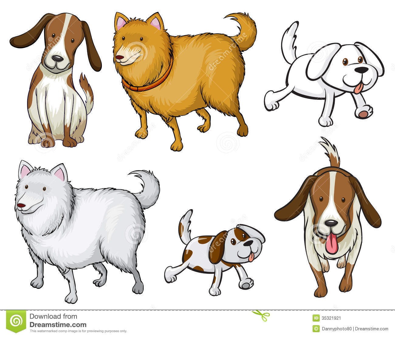 Different Specie Of Dogs Stock Vector Illustration Of
