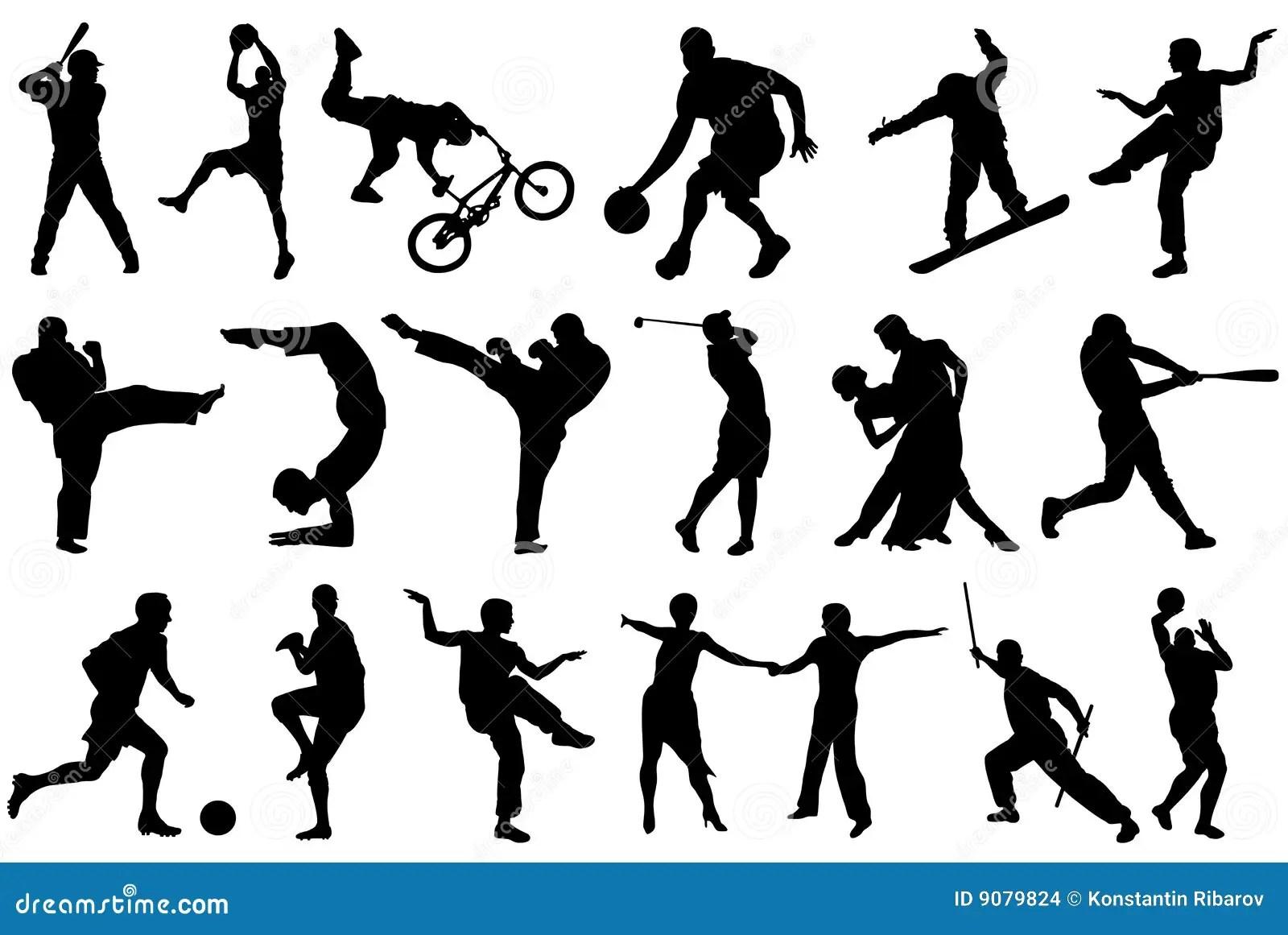 Different Sports Stock Illustration Illustration Of