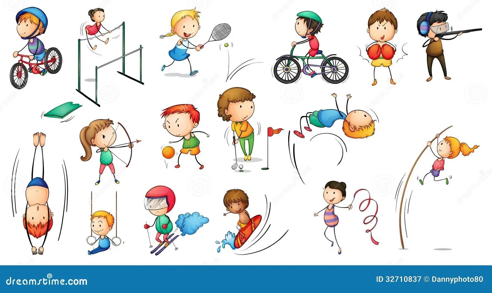 Different Sports Activities Stock Vector