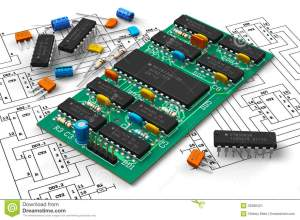 Digital Circuit Board With Microchips Stock Illustration  Illustration of interface, device
