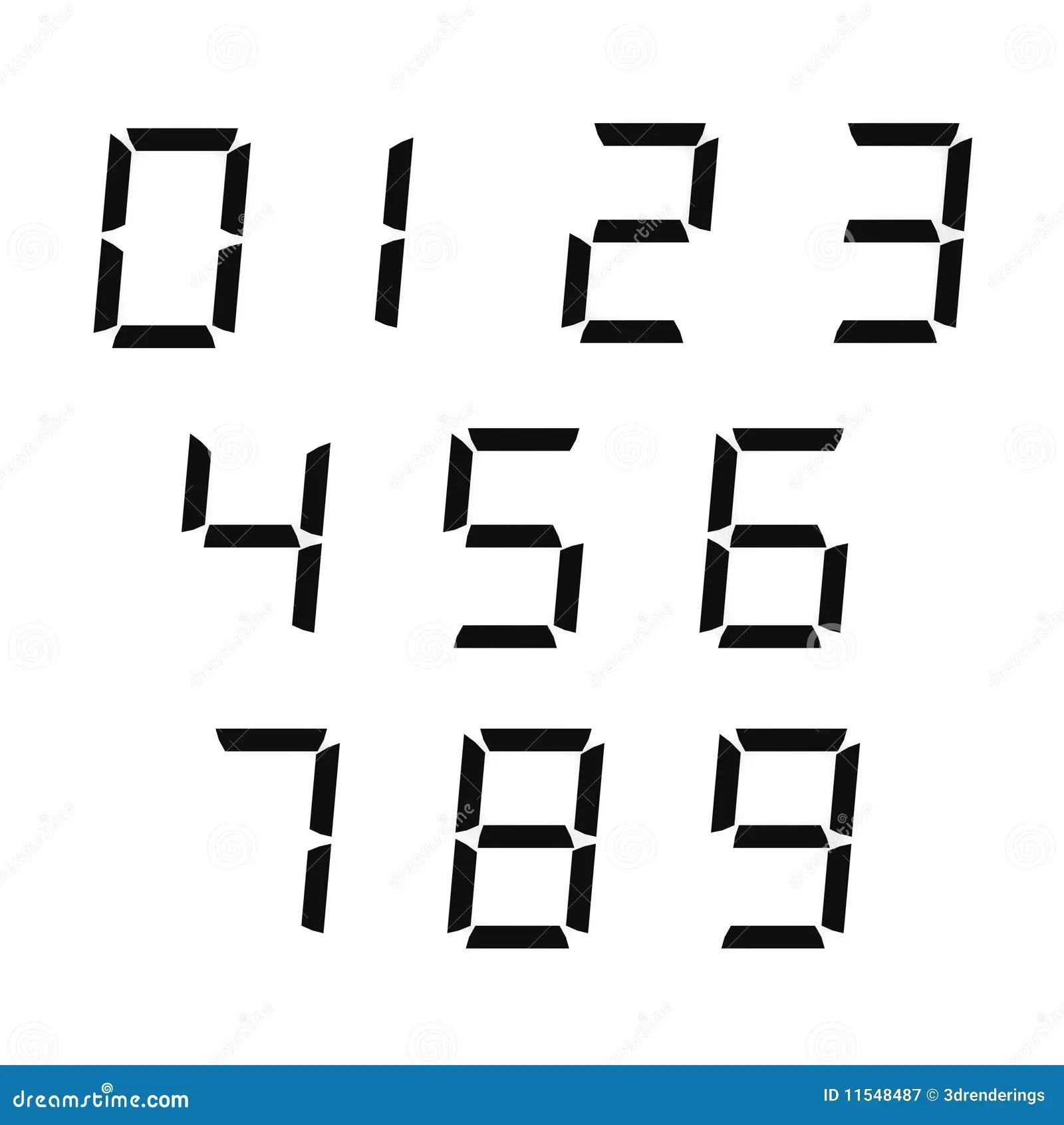 Digital Numbers Stock Illustration Illustration Of