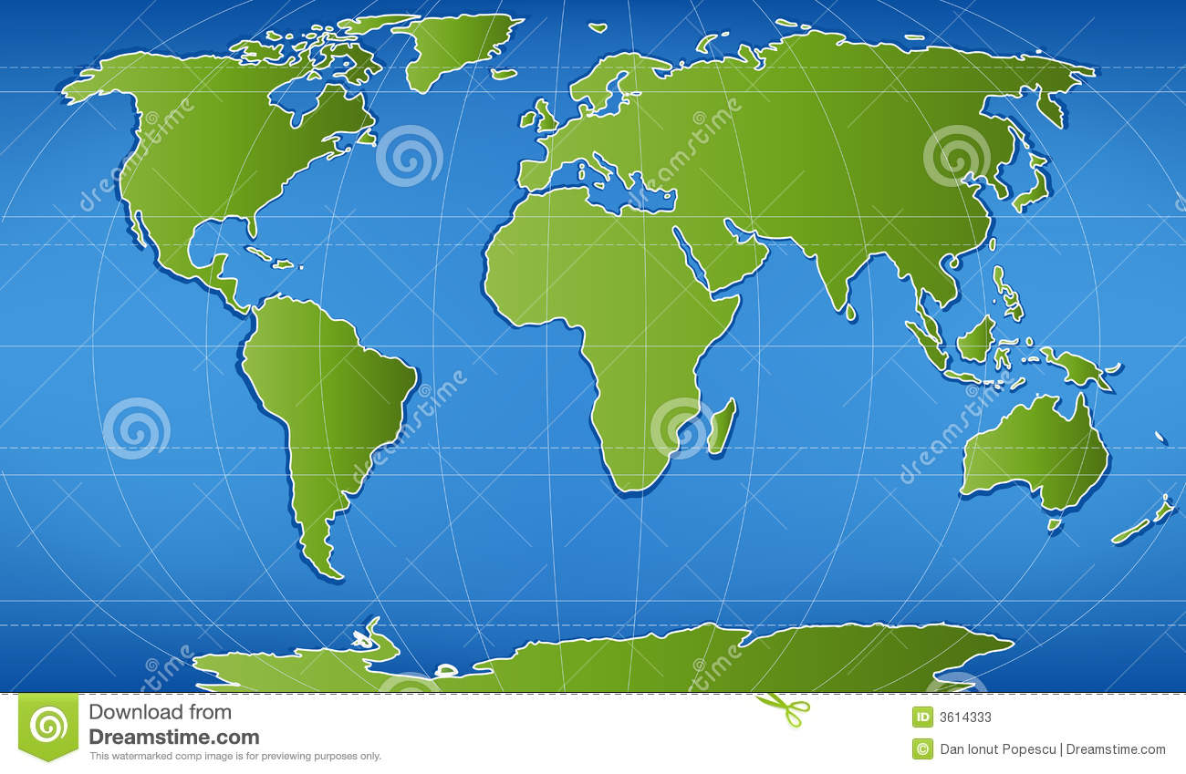 Digital Word Map Stock Vector Image Of Continent Ocean