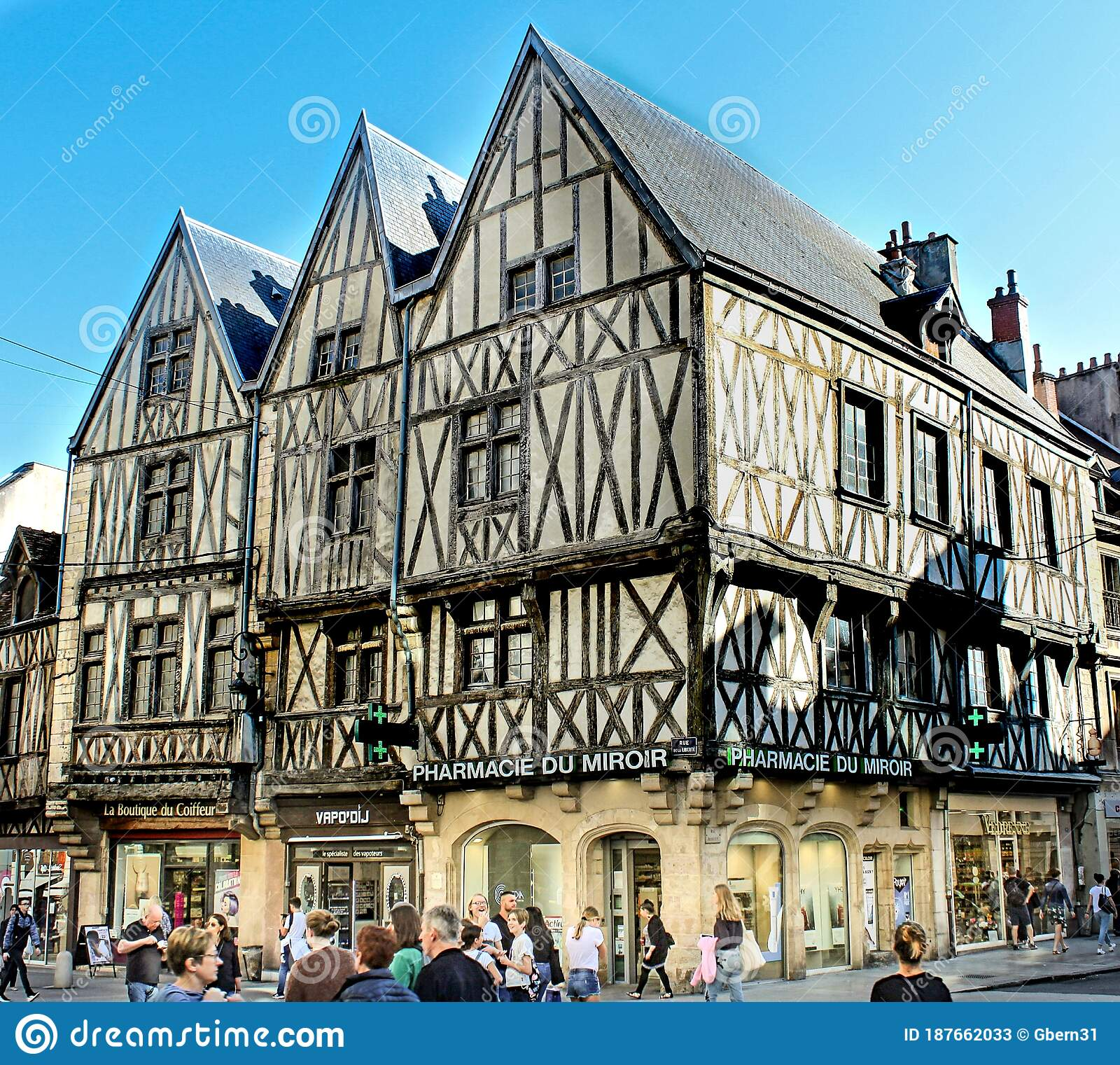 Dijon In France Lovely Streetview City Famous For Mustard Editorial Stock Photo Image Of France Boutique 187662033