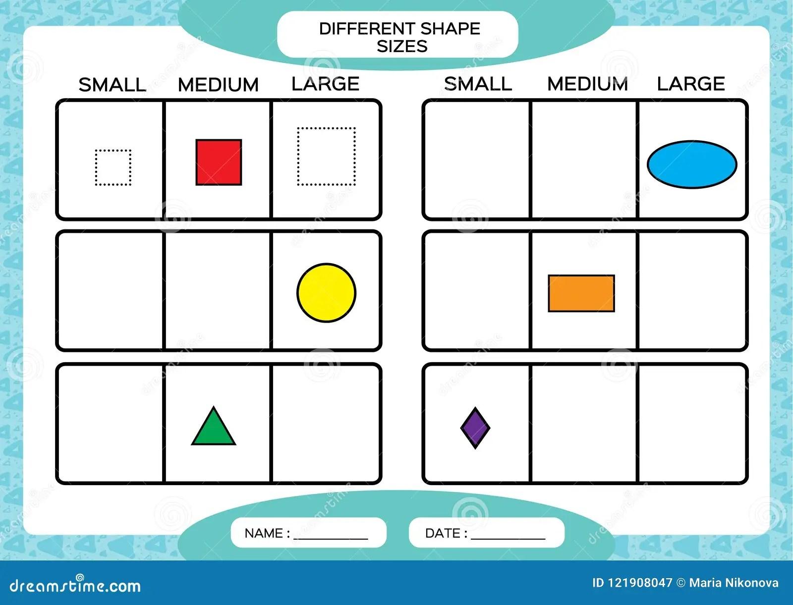 Dimensioni Differenti Di Forma Piccolo Medio Grande