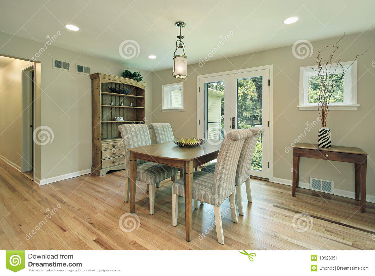 Dining Room With Doors To Patio Stock Image Image 10926351