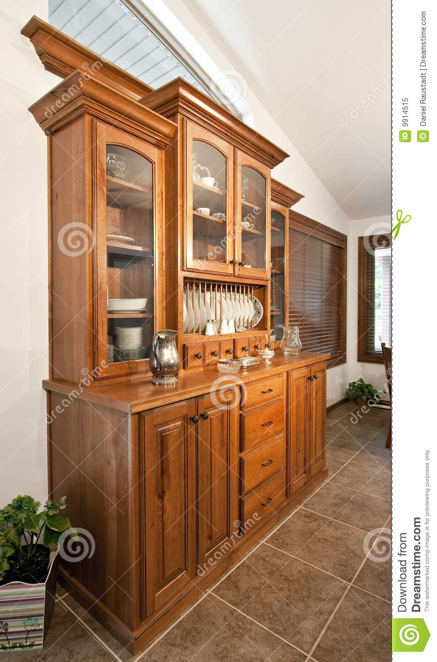 Dining Room Hutch Buffet Stock Image Image Of Curio