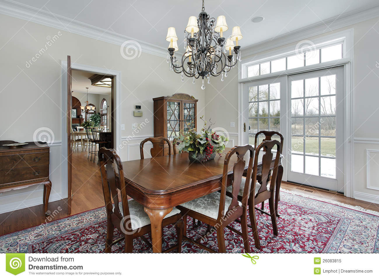 Dining Room In Suburban Home Royalty Free Stock Photo Image 26083815