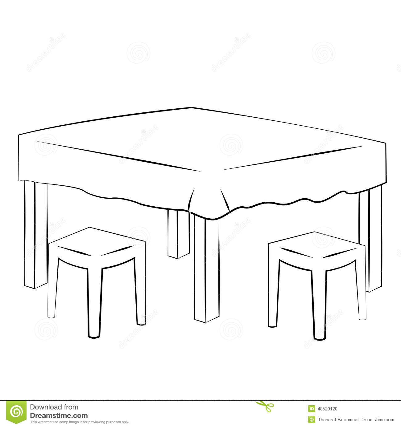 Dining Table Stock Vector