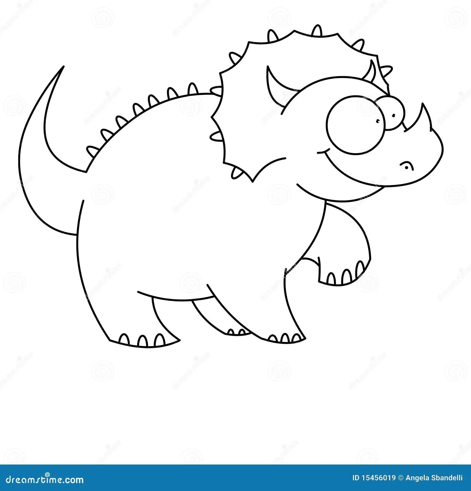 Dinosaur De T Rex Noir Et Blanc Illustration Stock